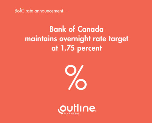 Rate Update: Bank of Canada maintains overnight rate target at 1.75%