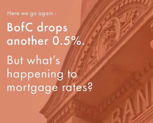 The Bank of Canada just cut the Overnight Lending Rate by another 0.5%. What does this mean for mortgage rates?